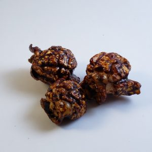 Chocolate flavored kettle popcorn